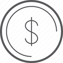 cash, circle, currency, dollar, finance, money, payment icon