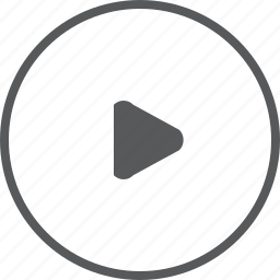 circle, media, multimedia, music, play, player, video icon