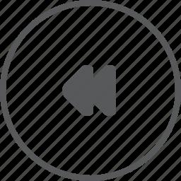 arrow, back, circle, left, plyer, previous icon