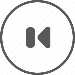 arrow, circle, left, music player, player, previous, skip icon