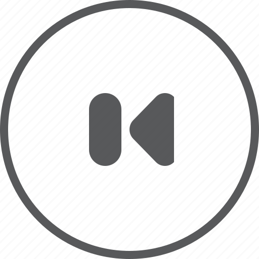 Circle, previous, skip, arrow, left, music player, player icon - Download on Iconfinder
