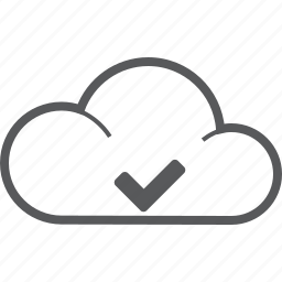 accept, checked, cloud, forecast, oke, success, weather icon