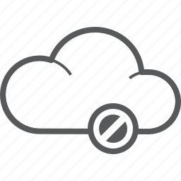 access, cloud, deny, forecast, prohibit, stop, weather icon