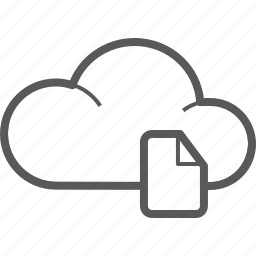 cloud, document, documents, file, forecast, paper, weather icon