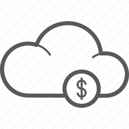 cloud, currency, dollar, finance, forecast, money, weather icon