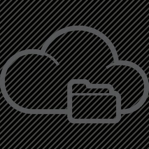 cloud, data, documents, folder, forecast, storage, weather icon