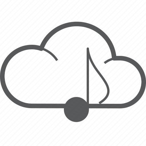 cloud, cloudy, eighth, forecast, musical, note, weather icon