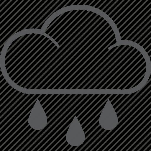 aqua, cloud, drop, forecast, rain, raining, weather icon