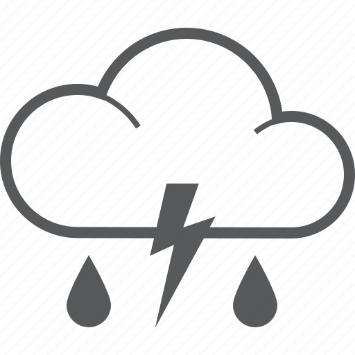 bolt, cloud, forecast, lighting, rain, raining, weather icon
