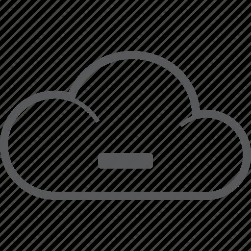 cancel, cloud, delete, forecast, minus, remove, weather icon