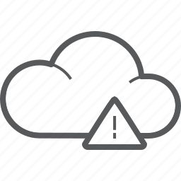 attention, caution, cloud, danger, forecast, warning, weather icon