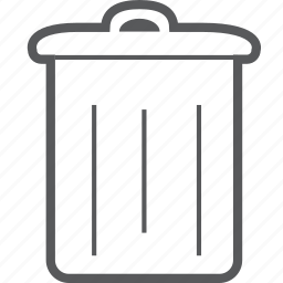 bin, delete, garbage, recycle, remove, trash icon