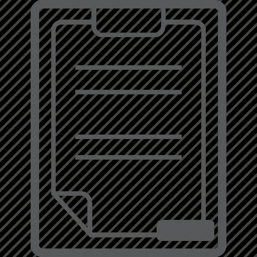 cancel, clipboard, document, minus, paper, remove icon