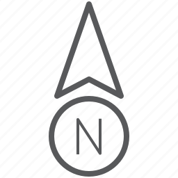 arrow, direction, gps, navigation, north, up icon