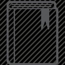 book, bookmark, document, favorites, favourite, file, heart icon