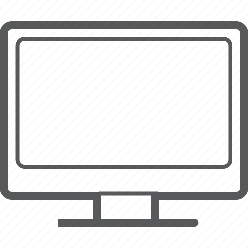 computer, desktop, device, display, monitor, screen, tv icon