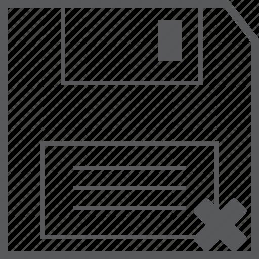Delete, disk, floppy, cancel, close, remove, storage icon - Download on Iconfinder
