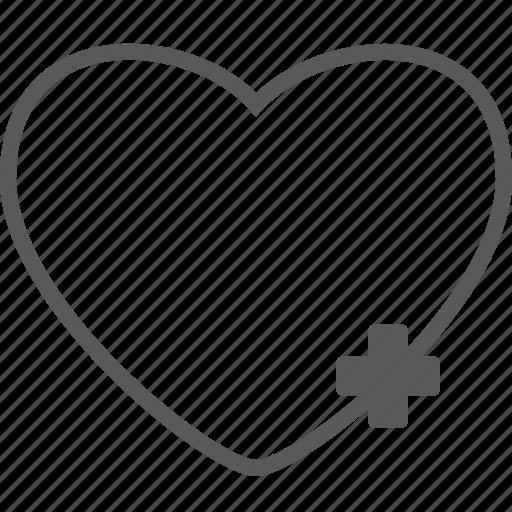 add, create, favorite, heart, love, new, plus icon