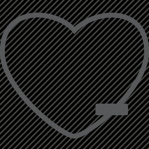 cancel, delete, favorite, heart, love, minus, remove icon