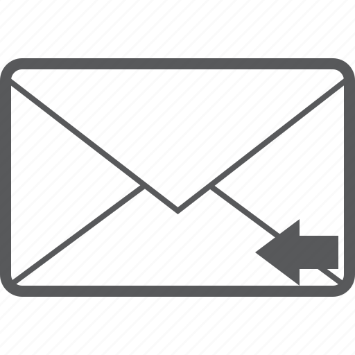 arrow, back, email, left, mail, message, previous icon
