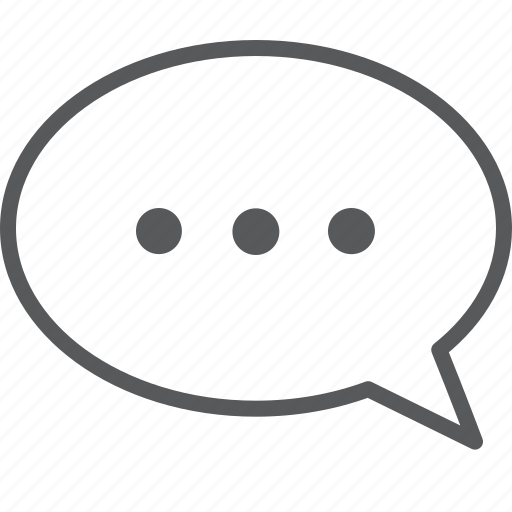 Dot, message, bubble, chat, communication, talk icon - Download on Iconfinder