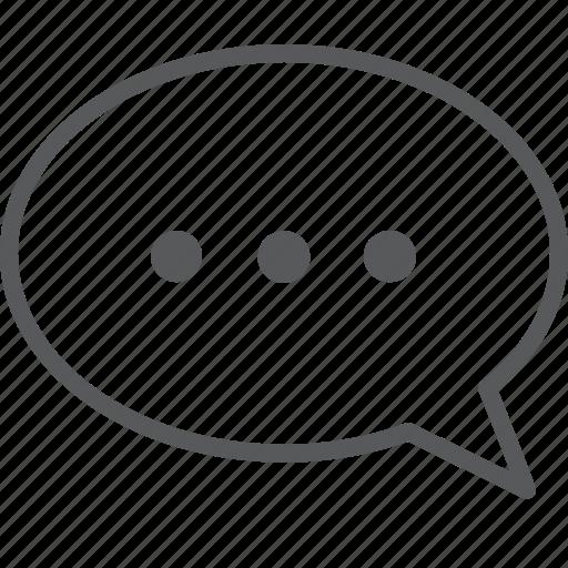 bubble, chat, communication, dot, message, talk icon