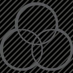 art, circle, color, design, graphic, paint, rgb icon