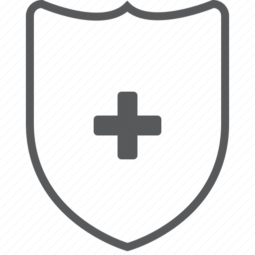 Add, shield, create, guard, new, plus, protect icon - Download on Iconfinder