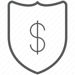 business, dollar, finance, guard, payment, protect, shield icon