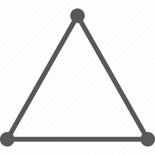 geometry, geometry triangle, three points, triangle icon