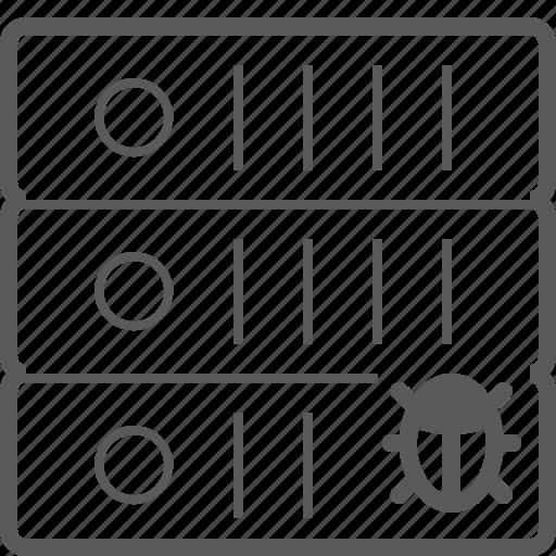 bug, sever, storage icon