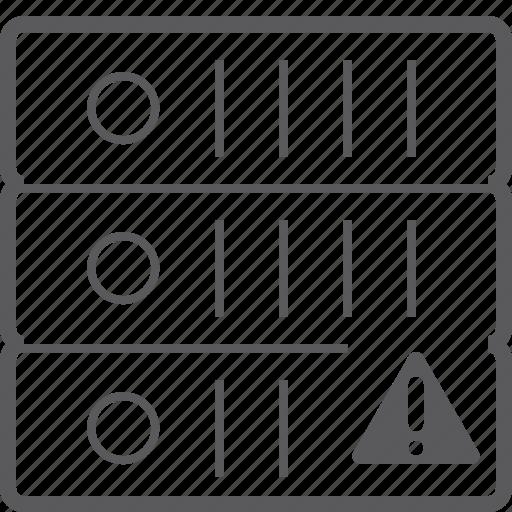 caution, sever, storage icon