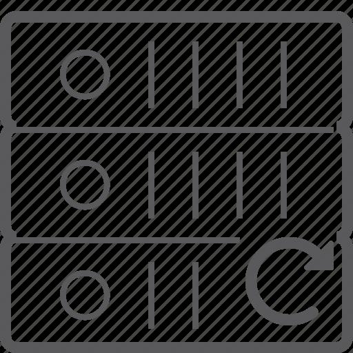 reload, sever, storage icon