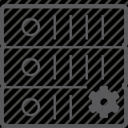 setting, sever, storage icon