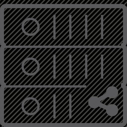 sever, share, storage icon