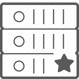 sever, star, storage icon