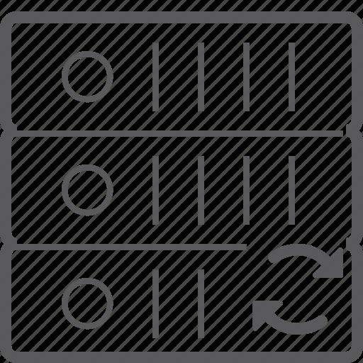sever, storage, sync icon