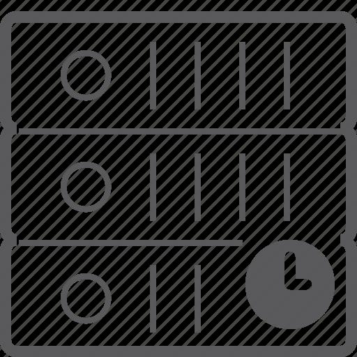 sever, storage, timer icon