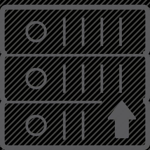 sever, storage, up icon