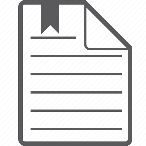bookmark, sheet icon