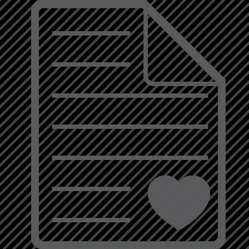 heart, sheet icon