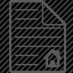 house, sheet icon