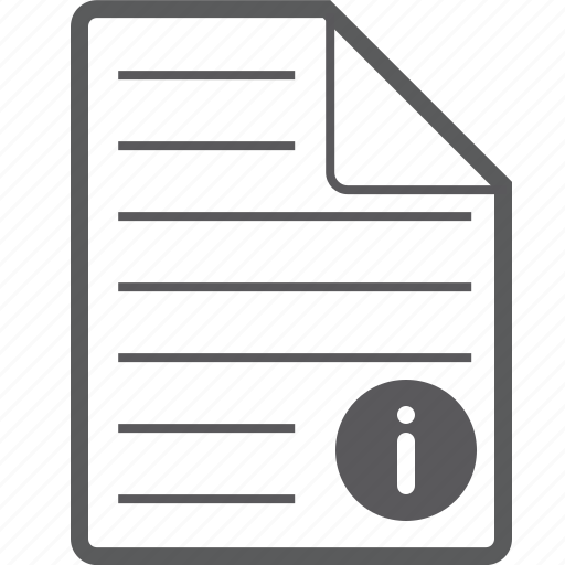 info, sheet icon