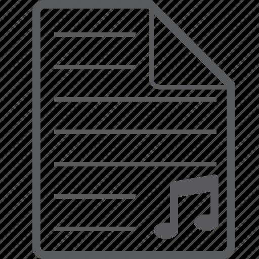 music, sheet icon