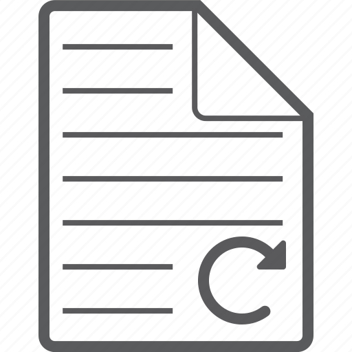 reload, sheet icon