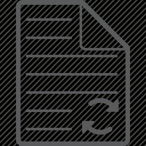 sheet, sync icon