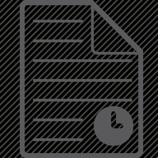 sheet, timer icon