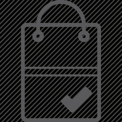 bag, check, shopping icon