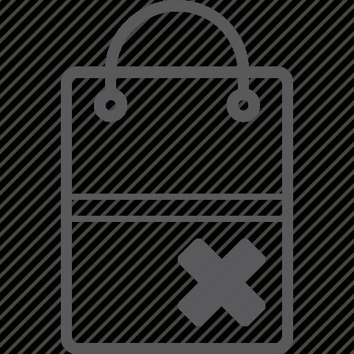 bag, delete, shopping icon