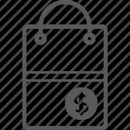 bag, dollar, shopping icon